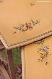 floral decoupage furniture. delighful furniture vintage home  1930s painted floral tables decoupage furniturepainting  and furniture