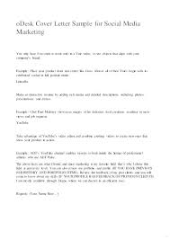 Marketing Sample Cover Letter Details File Format Best Marketing