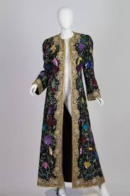 One Of A Kind Michael Novarese Embroidered Kaftan Coat For Sale At