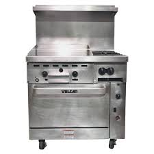 vulcan commercial stove. Contemporary Commercial USED  Vulcan 36 Inch 2Burner With 24 Throughout Commercial Stove A
