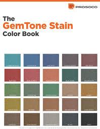Prosoco Gemtone Color Chart Polished Concrete Esr Decorative Concrete Experts
