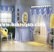 swag style shower curtains double swag shower curtain set