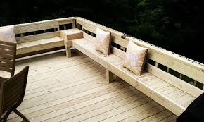 deck bench seating outdoor