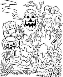 Small Picture Spooky Coloring Pages Halloween Coloring Pages Free Printable