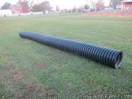 black plastic corrugated ditch culvert pipe inch