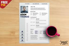 Free Resume Cv Template Psd Download Psd