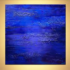 Small Picture Abstract painting blue textured abstract painting home decor art