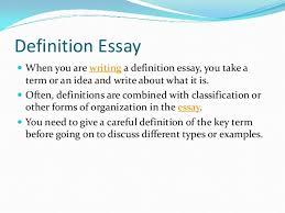 Write A Definition Essay Under Fontanacountryinn Com