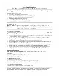 Network Technician Resume Engineer Template L1 Format Doc Examples
