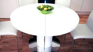 round high gloss dining table modern white round dining table large size of extraordinary modern white