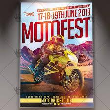 motorcycle club flyers moto fest sport flyer psd template psdmarket