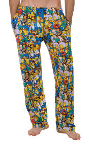 Character Pants The Simpsons Springfield Multi Character Collage Lounge Pants