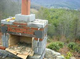how to build outdoor stone fireplace a and chimney building backyard average cost