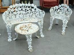 antique cast iron table and chairs vintage cast iron outdoor furniture photo 1 of 6 cast