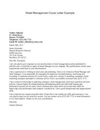 Retail Manager Cover Letters Great Letter Unique Management