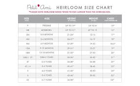 Infant Size Chart Petit Ami Baby Boys Romper With Smocking And Faggoting