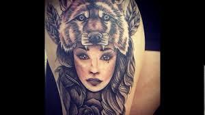 тату девушка с волком значение тату волк популярные стили фото