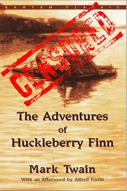 censorship and mark twain s adventures of huckleberry finn book cover censored