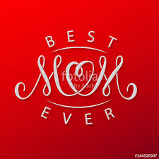 Mothers Day Card Template Impressive Best Mom Ever Vector Red Mother's Day Greeting Card Template