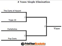 Fillable Tournament Brackets Editable Tourney Brackets