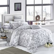 interior elegant fl and leaves print bedding set queen king size duvet creative covers 4
