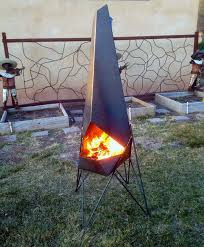 large chiminea outdoor fireplace