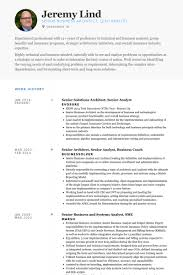 senior solutions architect senior analyst resume samples technical analyst resume