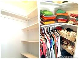 closet ideas add custom shelving to your builder basic and get so much diy design plans