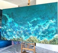 various ocean waves painting ocean wave paintings by ocean waves painting ocean waves on walls