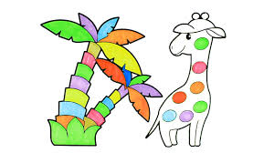 Small Picture How To Draw Cartoon Rainbow Giraffe Coloring Pages Kids Song