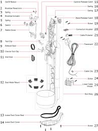dyson dc18 undercarriage exploded drawing diagram schematic