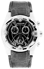 roberto cavalli best watches at affordable price store roberto cavalli women s stainless steel case black dial leather strap date display chronograph 7251616155