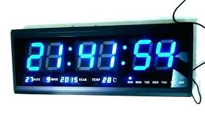 digi wall clocks large modern clock design led digital uk battery ope