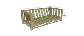diy outdoor sofa. DIY Outdoor Sofa Plans Diy