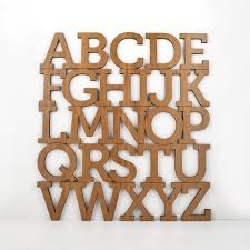 alphabet wooden wall hanging letter