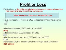 Profit Or Loss Learning Outcomes To Be Able To Calculate Profit E