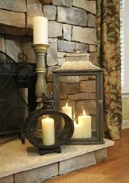 decorating the hearth i m a er for some good lanterns with pretty candles fireplace