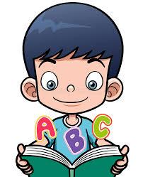 cartoon boy reading a book stock vector ilration of 31797996