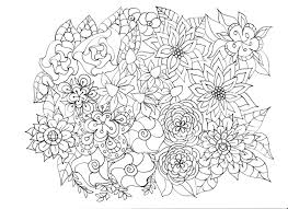 coloring pages flowers plants garden and