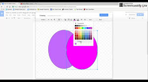 How To Make A Venn Diagram On Google Drawing How To Make A Venn Diagram With Google Docs Youtube