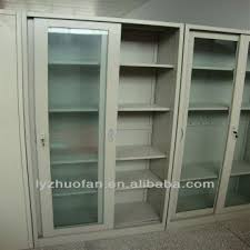 china metal sliding glass door french style furniture bookcase