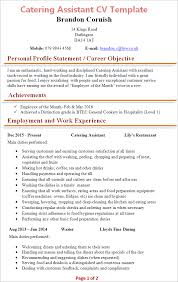Exceptional Resume Examples Cooking Resume Examples
