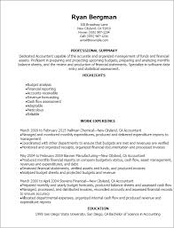 Financial Resume Template Classy Accounting Finance Resume Templates To Impress Any Employer
