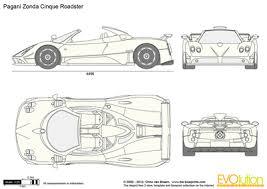 Pagani Zonda Cinque Roadster Vector Drawing