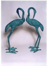 aluminium crane pair sculpture बर ड