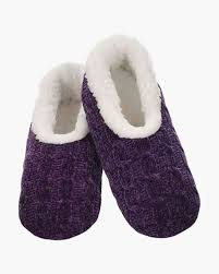 Snoozies Size Chart Womens Jewel Tone Chenille Snoozies In Purple