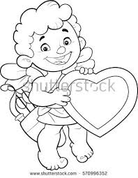 stock vector cartoon valentine s day vector illustration of cute cupid with a big heart and arrows love 570996352 cupidon boy bow stock vector 546806059 shutterstock on arrow templates cute big