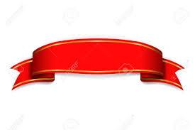 Red Ribbon Design Red Ribbon Banner Satin Blank Design Label Scroll Ribbon Bow