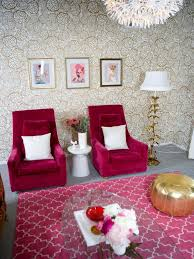 pink living room furniture. Metallic Living Room With Pink Chairs Furniture T
