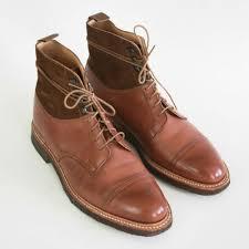 details about crockett jones brown tan wax leather keswick crepe sole cap toe boots 9 5 us d